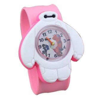 ขายการ์ตูนเด็กร้อน ๆ ชอบนาฬิกาควอทซ์ baymax นาฬิกาสีชมพู