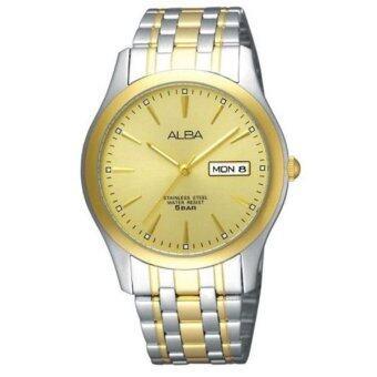 ALBA นาฬิกาข้อมือชาย-Silver/Gold หน้าปัดทอง - AXND48X1
