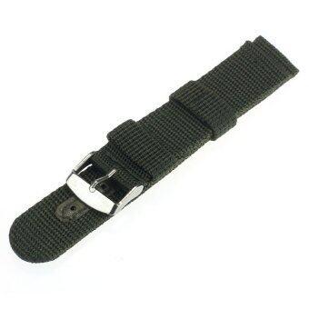 20มม.ไนลอนรัดสายนาฬิกาข้อมือสำหรับนาฬิกาหัวเข็มขัดสแตนเลส