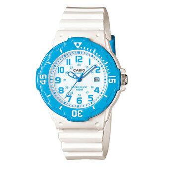 CASIO standard sport Lady นาฬิกาข้อมือผู้หญิง White/Blue สายเรซิ่น รุ่น LRW-200H-2BVDF
