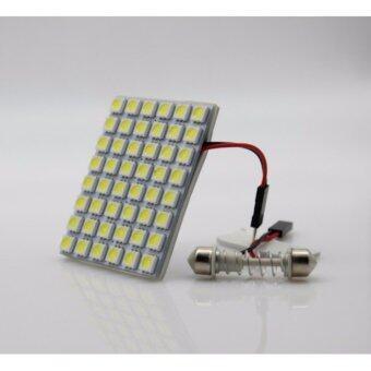 ไฟเพดานรถยนต์ LED 48 ดวง แสงสีขาว สว่างสุดๆ ( 1 ชุด ) มาพร้อมขั้ว t10 และ 31mm.