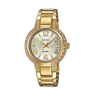 Casio Sheen นาฬิกาข้อมือผู้หญิง รุ่น SHE-4804GD-9A - Silver