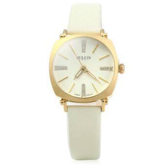 จูเลียสจ๋า-388 คล้ายคลึงหนังนาฬิกาควอทซ์หญิงเรืองแสงชี้โกลเด้น