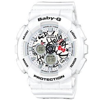 Casio G-Shock นาฬิกาข้อมือผู้หญิง สายเรซิ่น รุ่น BA-120KT-7A HELLO KITTY LIMITED EDITION - สีขาว