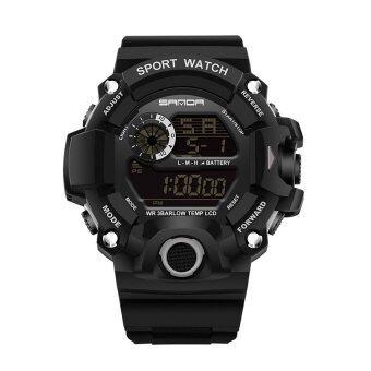 ซานดา 326คนกีฬากลางแจ้งมัลติฟังก์ชั่นนาฬิกากันน้ำอิเล็กทรอนิกส์ (สีดำ)