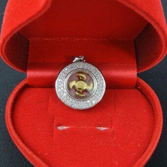 Pearl Jewelry จี้กังหัน นำโชค เพชรสวิส พร้อมสร้อยคอ LC210