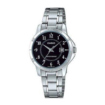 Casio Standard Lady นาฬิกาข้อมือผู้หญิง เงิน สายสเตนเลส รุ่น LTP-V004D-1BUDF