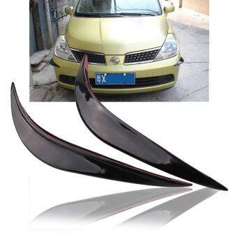 รถสีดำพุ่งตรงกันชนป้องกันคนภายนอกริมฝีปากสติกเกอร์