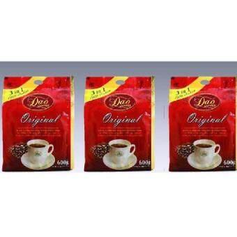 Dao Coffee ดาวคอฟฟี่ กาแฟ 3 อิน1 3 แพค รสดั้งเดิม (Original)