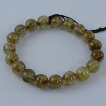 Pearl Jewelry กำไลหินไหมทอง X5