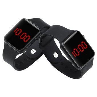 PA-HY LED นาฬิกาแฟชั่นกีฬาบุคลิกภาพรัดซิลิโคนสีดำ 802112