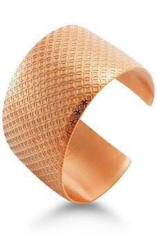 555jewelry กำไลสำหรับสุภาพบุรุษและสุภาพสตรี รุ่น MNC-BG128-C (Pink Gold)
