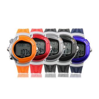 โอ้ตัววัดอัตราการเต้นของหัวใจชีพจรกีฬาออกกำลังกายแคลอรี่นาฬิกาข้อมือกันน้ำเป็นตัวสีดำ