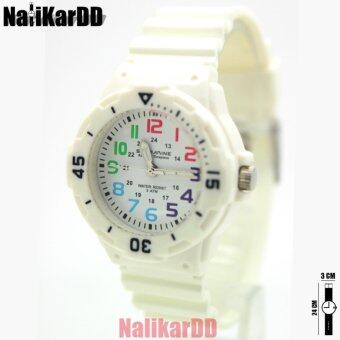 Submariner นาฬิกาข้อมือผู้หญิงและเด็ก สายยาง/สีขาว ระบบเข็ม (เข็มพรายนำ้)