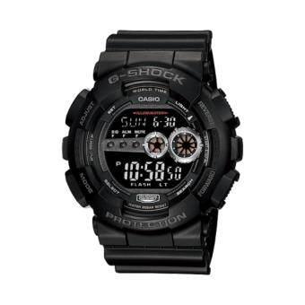 Casio G-Shock นาฬิกาข้อมือผู้ชาย สีดำ สายเรซิ่น รุ่น GD-100-1Bประกันcmg