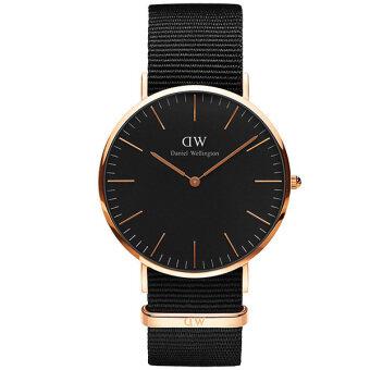 Daniel Wellington DW00100148 Classic Cornwall Horloge 40mm นาฬิกาข้อมือ แฟชั่น ผู้ชาย สีดำ Men Watch - Black