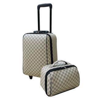 Roma polo กระเป๋าเดินทางแฟชั่น รุ่นเซ็ทคู่ size 18/12 นิ้ว ผ้าแคนวาร์ดพิมพ์ลาย
