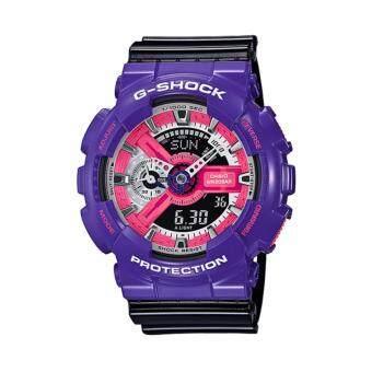 Casio G-Shock นาฬิกาข้อมือผู้ชาย สีม่วง/ดำ สายเรซิ่น รุ่น GA-110NC-6ADR * CMG