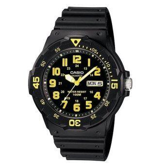 Casio Standard นาฬิกาข้อมือ รุ่น MRW-200H-9BVDF - Black/Yellow