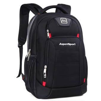 Aspensport กระเป๋าเป้ สะพายหลัง ชาย หญิง ใส่ Laptop 16 นิ้ว วัสดุกันซึมน้ำ รุ่น AS-B22 (Black red)