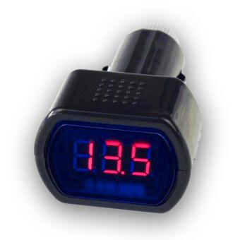 Digital scale volt วัดโวลท์ กับที่ เสียบบุหรี่ ดิจิตอล ( สีแดง 7-Segment Red )