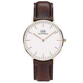 Daniel Wellington 0511DW Classic Bristol 36mm นาฬิกาข้อมือ แฟชั่น สแตนเลส ผู้หญิง สายหนัง Women Watch - Brown