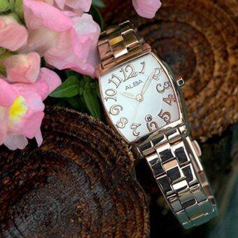 ALBA นาฬิกาข้อมือผู้หญิง สายสแตนเลส Pinkgold รุ่น AH7K84X1