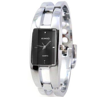 Kimio นาฬิกาข้อมือแฟชั่น สแตนเลส นักธุรกิจ ผู้หญิง สีดำ Fashion Stainless Steel Business Analog Women Watch - Black