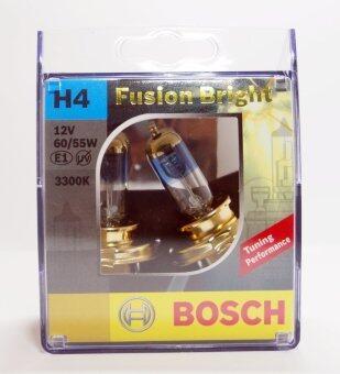 BOSCH หลอดไฟหน้ารถยนต์ H4 60/55W รุ่น Fusion Bright สำหรับหลอดไฟหน้า และ ไฟตัดหมอก