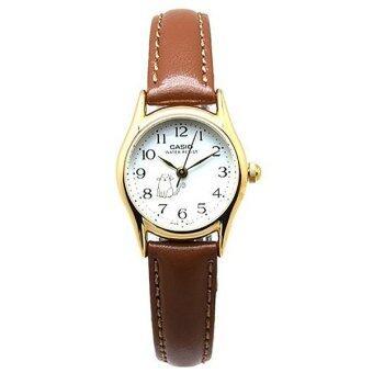 Casio Standard นาฬิกาข้อมือผู้หญิง - สีเงิน สายหนังน้ำตาล รุ่น LTP-1094Q-7B8