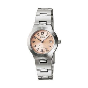 Casio Standard นาฬิกาข้อมือผู้หญิง สายสแตนเลส รุ่น LTP-1241D-4A3DF - เรือนเหล็ก/หน้าส้ม