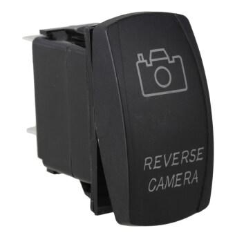 DC12V-24V Rocker Switch for Yacht Reverse Camera White Led Light - Intl