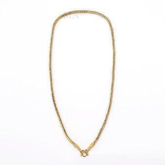 MONO Jewelry สร้อยคอทองคำลายสี่เสา งานทองไมครอนชุบเศษทองคำแท้ 96.5% ยาว 24 นิ้ว รุ่นน้ำหนัก ๑ บาท