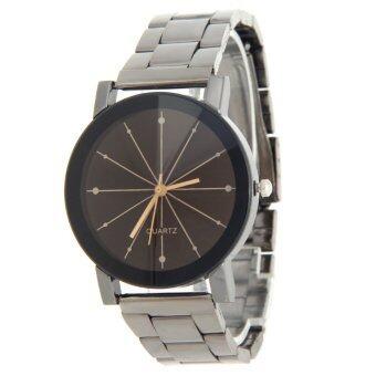 ผู้หญิง 2559 Men Fashion เสื้อสายนาฬิกาข้อมือนาฬิกาควอทซ์คล้ายคลึงมนุษย์เหล็กไหล
