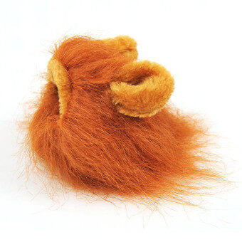 Harga Hot Sales Pet Hat Costume Lion Mane Cat Wig Halloween Dress Up With Ears Pet hat