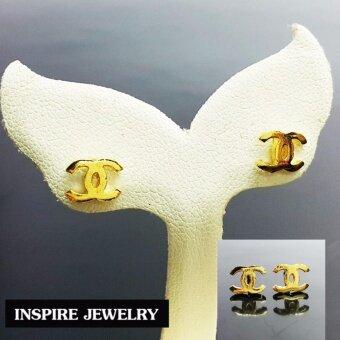 inspire jewelry ต่างหูหุ้มทองแท้ 100% (MicronsGold)