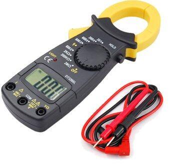 ITandHome เครื่องวัดแรงดันและกระแสไฟฟ้า มัลติมิเตอร์ DigitalMultimeter - สีดำ