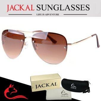 JACKAL SUNGLASSES แว่นตากันแดด (แจ็คเกิ้ล) รุ่น SHIPMASTER II JS177(Gold/Gradient Brown Lens)