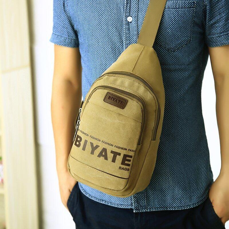JJUN กระเป๋าสะพายไหล่ คาดอก(biyateกากี)