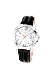 ประเทศไทย Julius Homme นาฬิกาสำหรับผู้ชาย สีดำ/สีเงิน สายหนัง รุ่น JAH-079