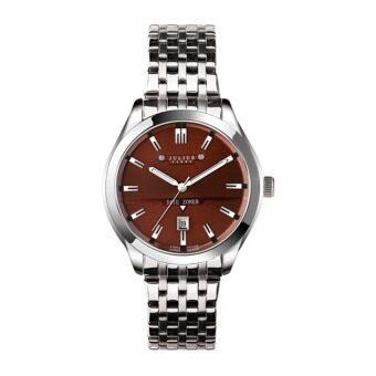 ซื้อ/ขาย Julius Homme นาฬิกาสำหรับผู้ชาย สีเงินหน้าน้ำตาล สายสแตนเลส รุ่น JAH-086