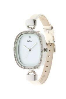 ราคา Julius นาฬิกาสำหรับผู้หญิง สายหนัง รุ่น JA-298 สีขาว