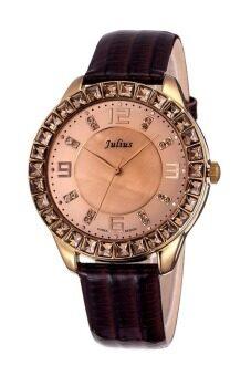 Julius นาฬิกาสำหรับผู้หญิง สายหนัง รุ่น JA-379 น้ำตาล