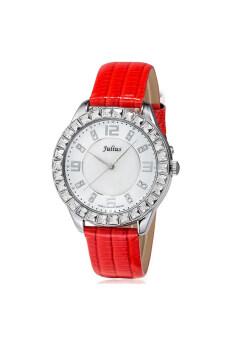 ซื้อ/ขาย Julius นาฬิกาสำหรับผู้หญิง สายหนัง รุ่น JA-379 แดง