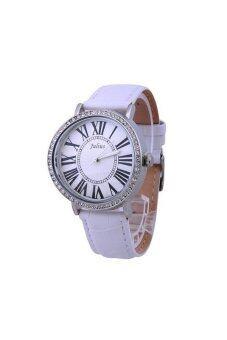 2561 Julius นาฬิกาข้อมือผู้หญิง สายหนัง รุ่น JA-383 สีขาว
