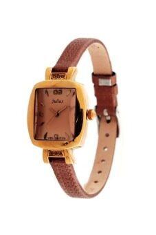 ราคา Julius นาฬิกาสำหรับผู้หญิง สีน้ำตาล สายหนัง รุ่น JA-572