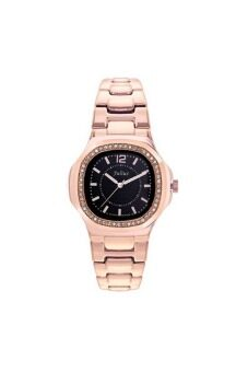 ซื้อ/ขาย Julius นาฬิกาสำหรับผู้หญิง สีพิ้งโกลหน้าดำ สายสแตนเลส รุ่น JA-711