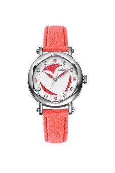 ซื้อ/ขาย Julius นาฬิกาสำหรับผู้หญิง สีชมพู สายหนัง รุ่น JA-792