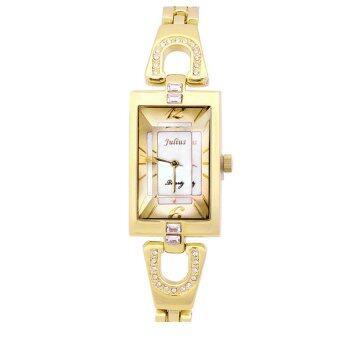 ซื้อ/ขาย JULIUS นาฬิกาข้อมือผู้หญิงสายสแตนเลส รุ่น JA443 - Gold