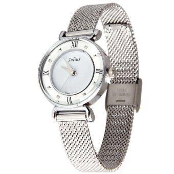 JULIUS นาฬิกาข้อมือผู้หญิง สายสแตนเลส รุ่น JA728 - Silver